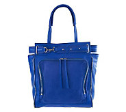 Kelsi Dagger Draco Leather North/South Tote with Buckle Detail - A232833