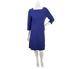 Liz Claiborne New York Essentials Bateau Neck Dress