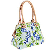 Tignanello Printed Leather Bed of Roses Satchel - A252433