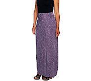 Lisa Rinna Collection Petite Long Skirt w/ Draped Front - A253233