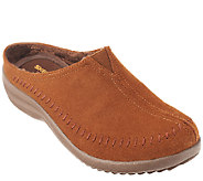 Skechers Whipstitch Leather Open Back Slip-ons - Sedona - A257633