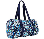Vera Bradley Signature Print Puffy Barrel Duffel - A259733