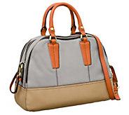 As Is orYANY Leslie Pebble Leather Triple Zip Satchel - A262733