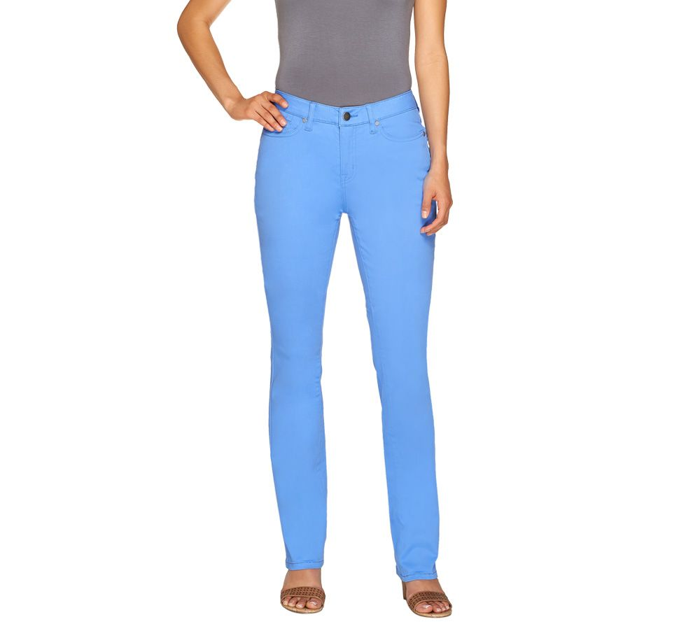 SkinnyJeans 2 Regular Colored Slim Bootcut Jeans - Page 1 — QVC.com