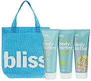 bliss Set of 3 Marvelously Moisturizing Body Butters - A265733
