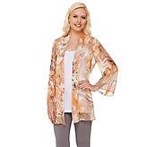 Susan Graver Printed Sheer Chiffon Kimono - A265833