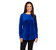 As Is Denim & Co. Active Regular Velour Tunic - A268033