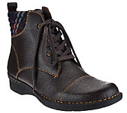 Clarks Leather Ankle Boots with Flannel Detail - Whistle Bea - A269033