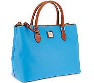 As Is Dooney & Bourke Pebble Leather Willa Satchel - A269433