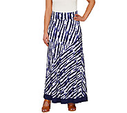 As Is LOGO by Lori Goldstein Pull-On Printed Knit Maxi Skirt - A274633