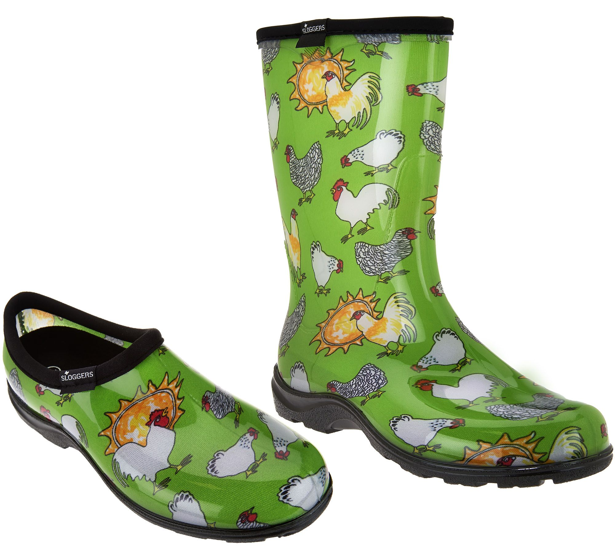 Sloggers Chickens And Suns Garden Shoes Or Boots