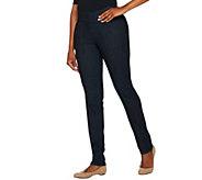 Denim & Co. How Smooth Straight Leg Denim Jeans w/ Seam Detail - A279233