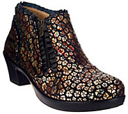As Is Alegria Leather Booties with Side Zipper - Hannah - A280633