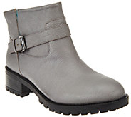 As Is LOGO by Lori Goldstein Ankle Boots with Faux Fur Lining - A281033
