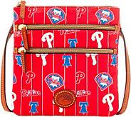 Dooney & Bourke MLB Nylon Phillies Triple Zip Crossbody - A281533
