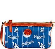 Dooney & Bourke MLB Nylon Dodgers Large Slim Wristlet - A281633