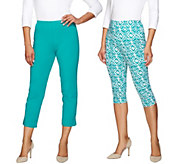 As Is Women with Control Regular Printed Pedal Pushers and Crop Pants - A285533