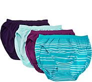 Jockey Seamfree Comfies Microfiber 4-Pack French- Cut Panties - A286633