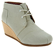 Skechers BOBS Linen Wedge Boot- High Notes Melodies - A287033