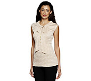 As Is Status by Star Jones Sleeveless Woven Blouse - A291433