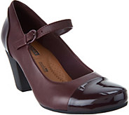 Clarks Leather Adjustable Mary Janes - Garnit Tianna - A296333