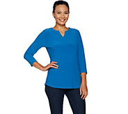 Susan Graver Modern Essentials Textured Liquid Knit Top - A297133