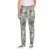 LOGO by Lori Goldstein Regular Printed Stretch Twill Ankle Jeans - A301233