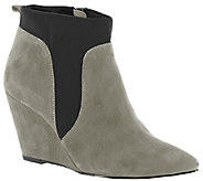 Bella Vita Suede or Leather Wedge Booties - Deryn - A337933