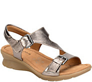 Comfortiva by Softspots Leather Wedge Sandals -Kay - A339833