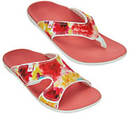 Spenco Orthotic Printed Slide or Thong Sandals - A93133