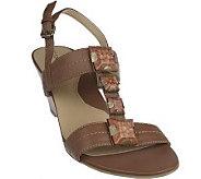 Tignanello T-Strap Wedge Sandals w/ Stone Detail - A214834