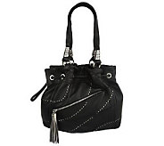As Is B. Makowsky Glove Leather Drawstring Shopper - A219834