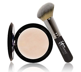 Product image of It Cosmetics Hello Light Illuminating Powder with Radiance Brush