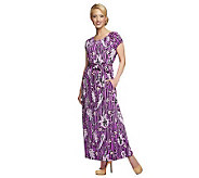 Bob Mackies Floral Printed Elastic Waist Maxi Dress Regular Fit - A234234