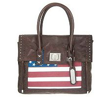 Aimee Kestenberg Vintage Leather Flag Printed Sa...