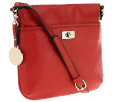 Liz Claiborne New York Zip Top Crossbody with Turnlock