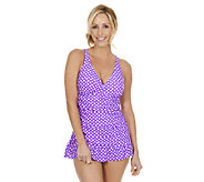 Ocean Dream Signature Classic Dot X-Back Swim Dress - A252634