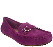 Isaac Mizrahi Live! Suede Moccasins with Horsebit Detail - A255934