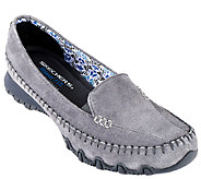 Skechers Suede Relaxed Fit Slip-on Moccasins - Pedestrian - A257634