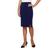 Susan Graver Premier Knit Comfort Waist Pull-On Slim Skirt - A265034
