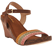 Skechers Ankle Strap Wedges w/ Woven Detail - Gossip - A265134