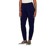 Susan Graver Weekend Brushed Back Knit Jogger Pants - A269234
