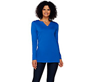 Isaac Mizrahi Live! Essentials Split Neck Knit Tunic - A269934