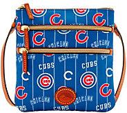 Dooney & Bourke MLB Nylon Cubs Triple Zip Crossbody - A281534