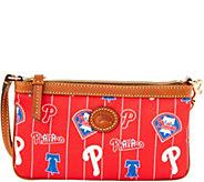 Dooney & Bourke MLB Nylon Phillies Large Slim Wristlet - A281634