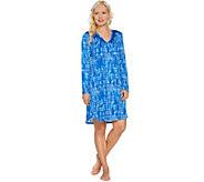 Carole Hochman Tie-Dye Stripe Rayon Spandex Sleepshirt - A286834