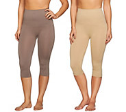 As Is Airbrusher by Women with Control Shaping Capri Set of 2 - A287734
