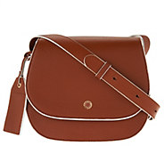 As Is Isaac Mizrahi Live! Nolita Pebble Leather Saddle Handbag - A288934