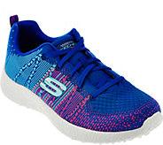 As Is Skechers Flat Knit Lace-up Sneakers - Burst Ellipse - A289934