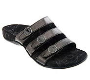 As Is Vionic Orthotic Triple Strap Sandals - Ashley - A294734
